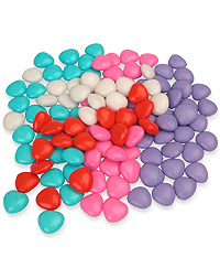Colorful Amorini Chocolate Hearts