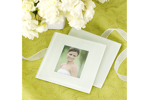 Photo Glass Coaster Favor Set