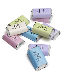 Monogram Mini Chocolate <font color=purple>Labels</font>