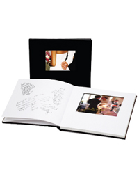 Leather Instant Digital Photo Guest Book