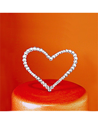 Crystal Heart Cake Topper