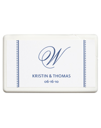 Personalized Boxed Mints - Initial (Blue)