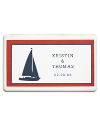 Personalized Boxed Mints - Sailboat