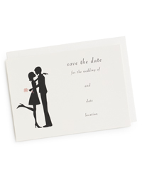 The Kiss Save-the-Date Cards