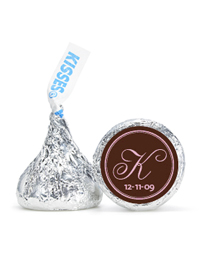 Personalized HERSHEY&apos;S Kisses - Initial (Pink/Brown)