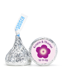 Personalized HERSHEY'S® Kisses - Flower (Purple)