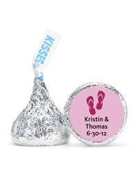 Personalized HERSHEY'S® Kisses - Flip Flops (Pink)