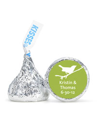 Personalized HERSHEY&apos;S Kisses - Bird (Green)