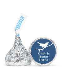 Personalized HERSHEY'S® Kisses - Bird (Blue)