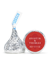Personalized HERSHEY'S® Kisses - Regal (Red)