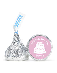 Personalized HERSHEY&apos;S Kisses - Cake (Pink)
