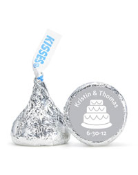 Personalized HERSHEY'S® Kisses - Cake (Silver)