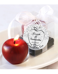 """Apple of My Eye"" Mini Candle Favor"