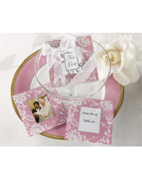 Picture Perfect Pink Glass Photo Coaster Set