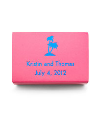 Personalized Matchboxes - Palm Trees