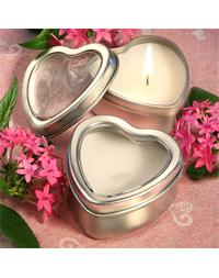 Heart Candle Favor Tin