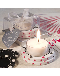 Poker Chip Design Candle Favor