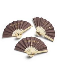 Mini Paper Fan Place Cards - Chocolate
