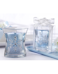 Snowflake Gel Candle Favor