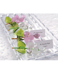 """Allure"" Glass Grapes Place Card Holders"