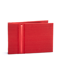 The Knot  Colored Silk Guest Book - Scarlet