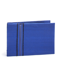 The Knot Colored Silk Guest Book - Navy