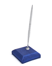 The Knot Colored Silk Pen & Holder - Navy