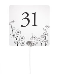 Table Number Cards - Cherry Blossom