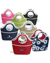 Reversible Floral Bucket Tote