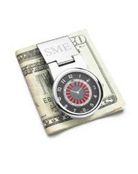 Roulette  Money Clip Watch