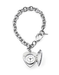 Heart Bracelet   Locket Watch
