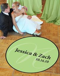 monogram wedding dance floor decal