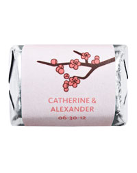 Personalized HERSHEY'S NUGGETS® Chocolates - Cherry Blossom