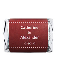 Personalized HERSHEY'S NUGGETS® Chocolates - Pin Dot (Red)