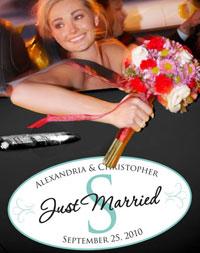 Monogram Wedding Window Cling