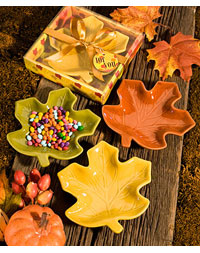 Autumn Leaf Candy Dish Favors