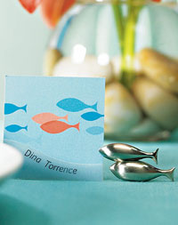 Double Fish Place Card Holders