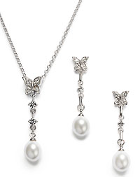Drop Pendant & Earring Set