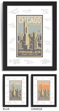 Personalized Guest Signature Frame   Chicago