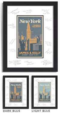 Personalized Guest Signature Frame   New York