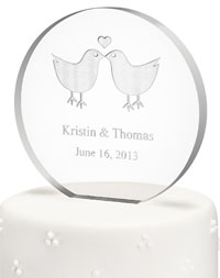 Personalized Acrylic Round Cake Topper