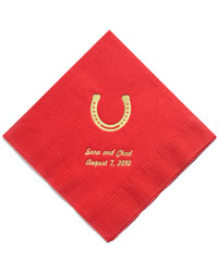 Personalized Napkins - LUNCHEON (Horseshoe)