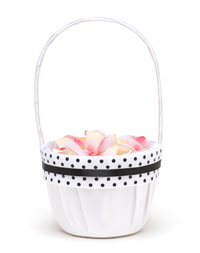 The Knot Polka-dot Collection Flower Girl Basket
