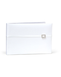 The Knot Rhinestone Guest Book - White