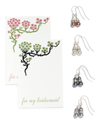 Bridesmaid Earring Set