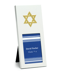 Star of David Place Card Frames
