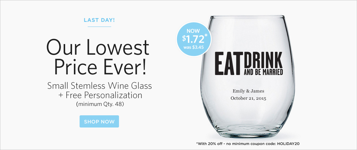stemless wine lowest price 2 days only
