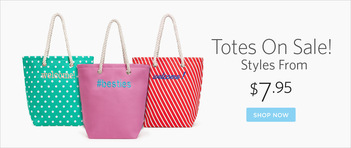 totes from $7.95